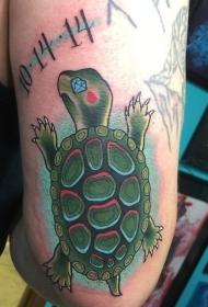 龟纹身   畅游海中的海龟纹身图案