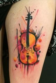 音乐纹身图案   创意表达的乐器纹身图案