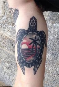乌龟纹身图案   创意百变的乌龟纹身图案
