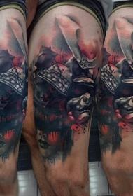 日本武士 紋身  英勇善戰的日本武士紋身圖案