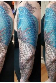 纹身锦鲤图案  赋有吉祥寓意的锦鲤纹身图案