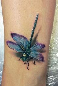 蜻蜓纹身图案  清新十足的蜻蜓纹身图案