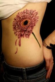 纹身菊花图案    多款怒放的菊花纹身图案