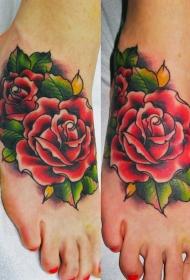 紋身玫瑰花  芳香四溢的玫瑰花紋身圖案