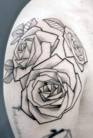 几何 纹身图案   多款形态各异的折纸纹身图案