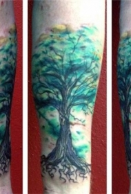 纹身树木的图像    生意盎然的树木纹身图案