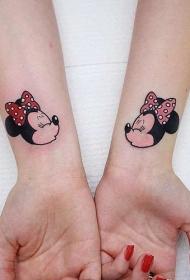 纹身卡通人物  极具创意的迪士尼卡通人物纹身图案