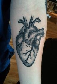 心臟紋身圖案   多款黑色色調的心臟紋身圖案