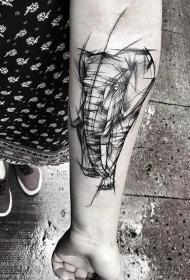 纹身图案线条图 男生喜爱的小动物纹身霸气纹身图案线条图