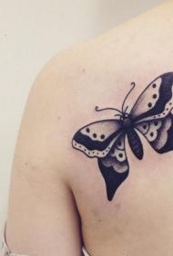 胡蝶纹身图片   花间飞舞的胡蝶纹身图案