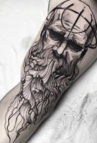 黑灰作品—一组国外大师的优秀黑灰纹身作品