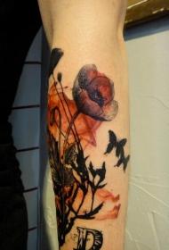 罂粟花纹身图片   妖艳却又致命的罂粟花纹身图案