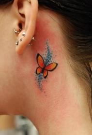 纹身耳朵  极简创意的耳朵小纹身图案