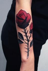 玫瑰纹身图  多款唯美艳丽的玫瑰纹身图案