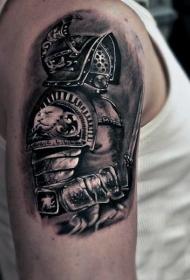 罗马战士纹身   英勇无敌的罗马战士纹身图案