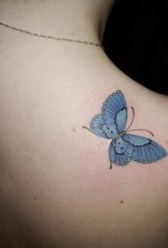 胡蝶纹身图片   翩翩飞舞的胡蝶纹身图案