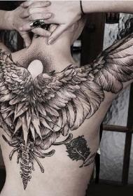 14张欧美翅膀纹身图案作品欣赏