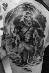 铁血战士纹身   霸气十足的铁血战士纹身图案