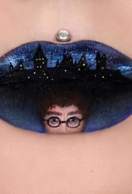 嘴唇纹身  难以置信的彩绘个性嘴唇纹身图案