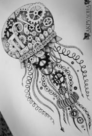 章鱼纹身手稿_21张纹身章鱼手稿图案素材