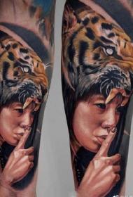 一组欧美9张超写实纹身图案作品图片
