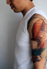 水母纹身图案   多款身姿柔软的水母纹身图案