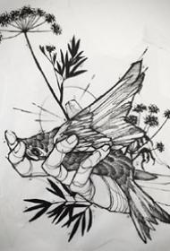 速写纹身手稿_10张纹身简约速写手稿图案欣赏