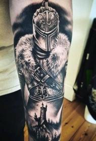罗马战士纹身  高大英勇的罗码战士纹身图案