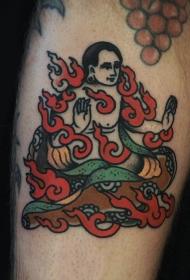 纹身佛    别具信奉力量的佛纹身图案