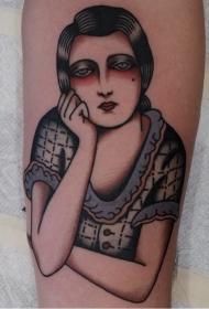 人物紋身圖案女   形態各異的女生人物紋身圖案