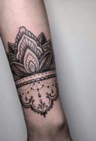 手臂纹身素材 多款黑灰纹身点刺技巧手臂线条纹身图案