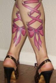 蝴蝶結紋身圖   少女心十足的蝴蝶結紋身圖案