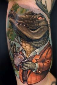鳄鱼纹身图案   凶残可恶的鳄鱼纹身图案