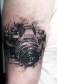 照相機紋身    多款手臂上的照相機紋身圖案