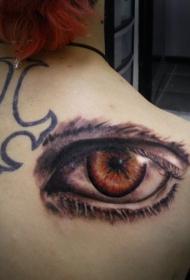 眼睛纹身  创意而又清澈的眼睛纹身图案