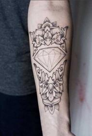 3d几何纹身图案 璀璨夺目的几何钻石纹身图案