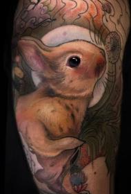兔子纹身图案  呆萌心爱的兔子纹身图案