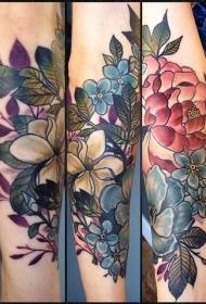 纹身图案花朵  唯美而又靓丽的花朵纹身图案