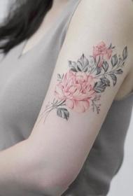 女生小清新水彩紋身_17張女生唯美小清新簡約水彩紋身圖案