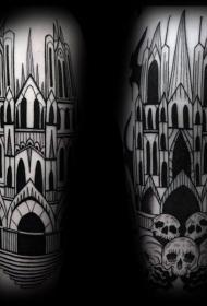 教堂紋身圖案   神圣虔誠的教堂紋身圖案