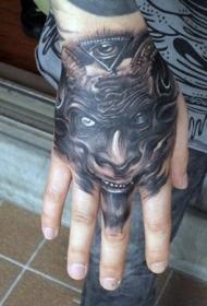 手背紋身  個性而又別致的手背紋身圖案
