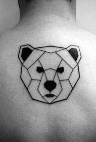 纹身背部    设计感实足的背部纹身图案