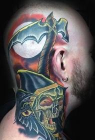 紋身圖片男生霸氣   霸氣張揚的頭部紋身圖案