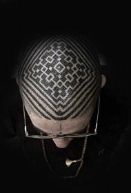 頭部紋身圖案  炫酷而又個性的頭部紋身圖案