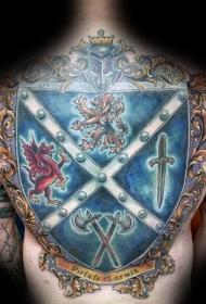盾牌紋身圖案   堅固牢靠的盾牌紋身圖案