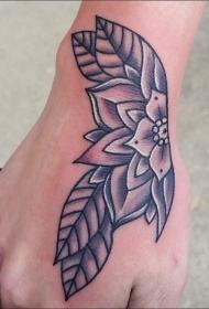 纹身植物图案  花喷鼻醉人的花朵纹身图案