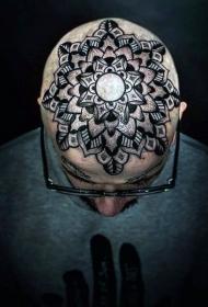 頭部紋身圖案  個性十足的男生頭部紋身圖案