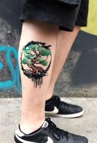 小腿纹身 特性创意的小腿纹身图案