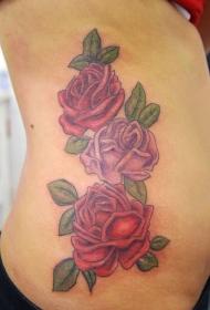 玫瑰紋身圖  艷麗動人的玫瑰花紋身圖案