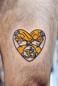 心脏纹身图案    身体各个部位彩绘纹身和写实纹身的心脏纹身图案